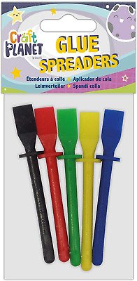 Crafting Glue Spreaders Kids Crafts Adhesive Spreading Spatula Sticks Pack Of 5 • 3£