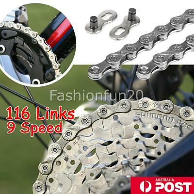 AU14.95 • Buy 9 Speed 116 Links Bicycle Chain Mountain Bike For Shimano CN-HG73 Deore LX NEW