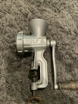Vintage Jupiter Wolf Grinder 8 Kitchen Chopper Wood Handle • 28.80£