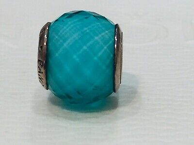 AU35 • Buy Authentic Pandora Teal Green Faceted Glass Silver Murano Charm Retired