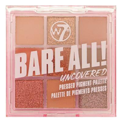 $ CDN14.40 • Buy W7 Bare All! Uncovered 9 Pressed Pigment Eyeshadow Palette Metallics Matte