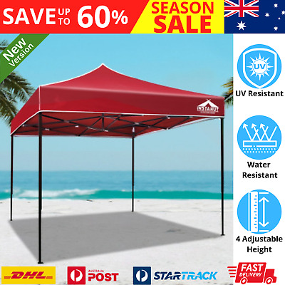 AU88.96 • Buy Instahut Gazebo Pop Up Marquee 3x3m Outdoor Tent Folding Wedding Gazebos Red