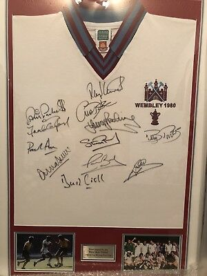 £395 • Buy West Ham United Signed Shirt 1980 Fa Cup Final Framed + Authenticity Cert