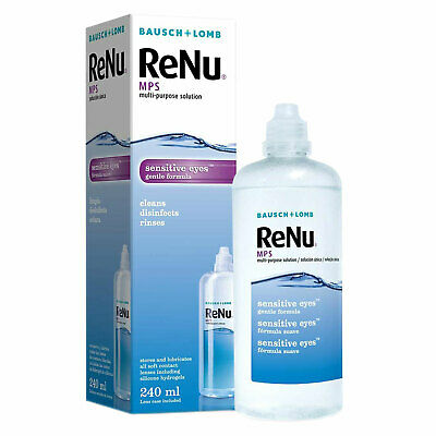 ReNu MPS Contact Lens Cleaner Multi Purpose Solution 240ml With Lens Case • 7.95£