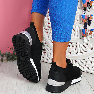 $ CDN32.38 • Buy Womens Ladies Lace Up Sport Sneakers Low Heel Trainers Women Running Shoes Size