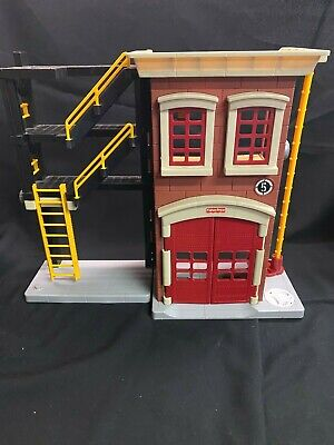 Large Fisher Price Imaginext Firehouse Fire Station Red Black N0764   • 18£