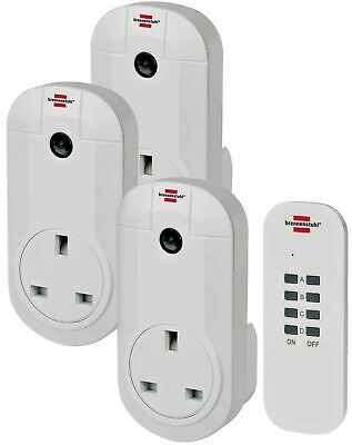 Remote Controlled Plug Socket Wireless For Table Lamps 3 Sockets Remote Control • 19.99£