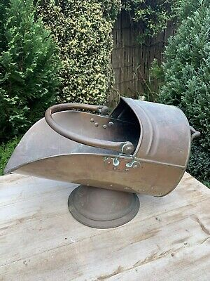 Antique Copper Coal / Log Scuttle Bucket • 45£