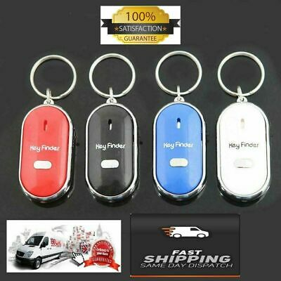 Key Finder Anti-Lost Whistle Find Locator Keychain Sound Control LED Torch Flash • 2.45£