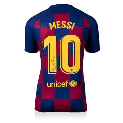 AU1225.78 • Buy Icons Lionel Messi Autographed 2019-20 FC Barcelona Signed Jersey Includes COA