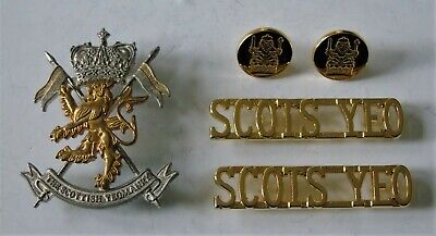 £24.99 • Buy British Army Scottish Yeomanry Cap Badge/Buttons & Shoulder Titles