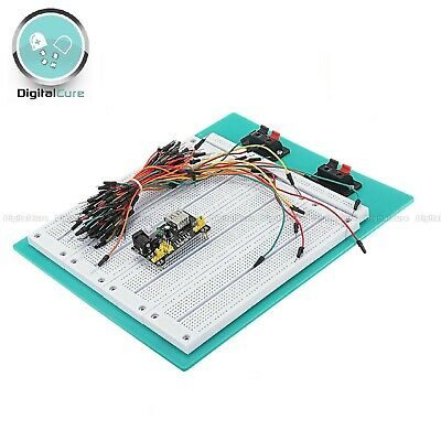 £15.95 • Buy 2900 Tie Point PCB Solderless Breadboard Prototyping SYB-500 + 65pc Cables + PSU