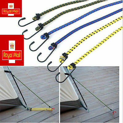 £3.29 • Buy 6 New Bungee Straps Cords Set With Hooks Elasticated Rope Cord Car Bike Luggage
