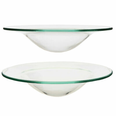 £5.99 • Buy 2 X Replacement Glass Dish Bowl Oil Burner Fragrance 12cm Large
