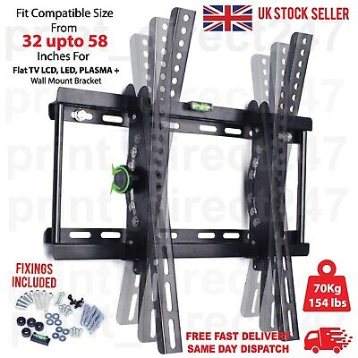 AU26.28 • Buy Tilt Tv Wall Bracket Mount Lcd Led Plasma 32 42 50 55 Up To 60 Inch Sony Samsung