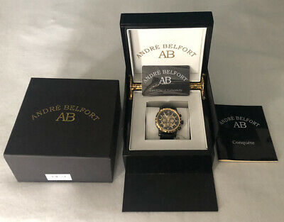£350 • Buy Andre Belfort Conquete IP Schwarz Automatic Watch Gold