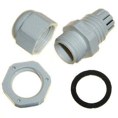 £3.20 • Buy 16mm Cable Compression Glands M16 Waterproof IP68 TRS Stuffing Gland 4-8mm GREY
