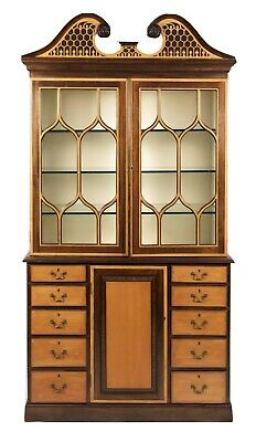 $3999 • Buy The Federalist Company Maple Mahogany Cabinet, Bookcase, Breakfront Bench Made