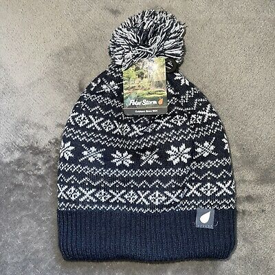 Peter Storm Women's  Drew Fairisle Bobble Hat • 5.99£
