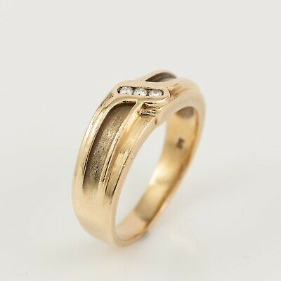 AU499 • Buy 9ct Yellow Gold 0.09ct Diamond Mens Ring By Michael Hill Jewellers - Size: U 1/2