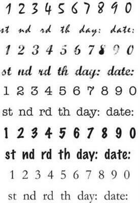 AU8 • Buy Clear Stamps - Date