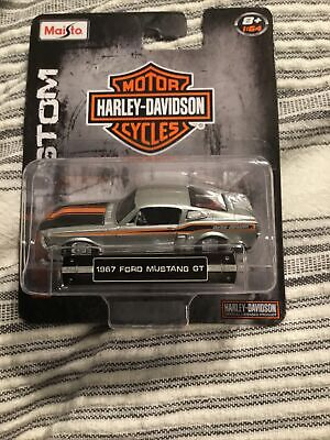 $15.99 • Buy 1967 Ford Mustang GT (Maisto) Harley-Davidson 1/64 Scale Diecast Car
