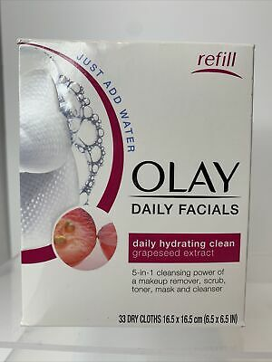 AU16.56 • Buy Olay Daily Facials 5-in-1 Daily Hydrating Clean W/ Grapeseed: 33 Dry Cloths