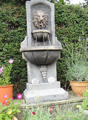£551.43 • Buy Large Stone Lions Wall Water Fountain Feature Garden Ornament
