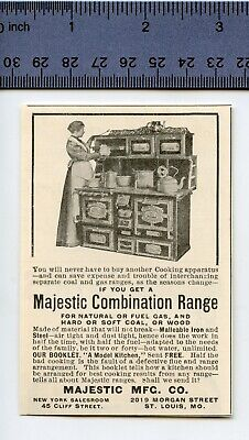 $4.99 • Buy Vintage 1900 AD For MAJESTIC COMBINATION RANGE - A Model Kitchen In Iron & Steel