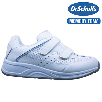 £16.95 • Buy Ladies Dr Scholls Leather Wide Fit Memory Foam Walking Gym Trainers Shoes Size
