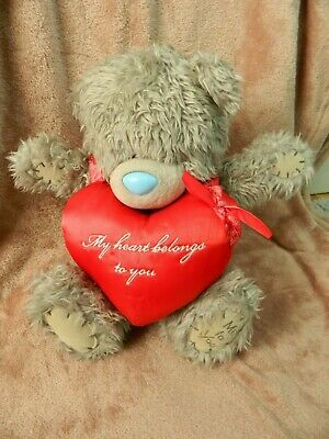 £7.79 • Buy Tatty Teddy Bear With Giant Red Heart-My Heart Belongs To You