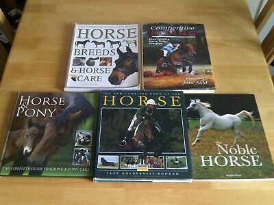 £16.99 • Buy Collection Of 5 X HORSE & PONY RIDING And HORSE CARE Hardback Books - Job Lot.