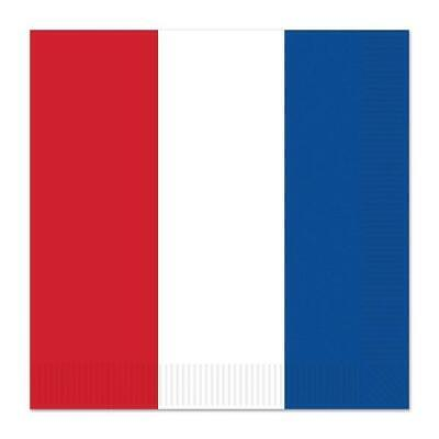 £4.99 • Buy British French Paper Serviettes Pack Of 16 2 Ply Napkins In Red White & Blue