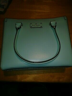 $ CDN101.26 • Buy Kate Spade New York Large Quinn Wellesley Fresh Air Blue Leather Satchel / Tote