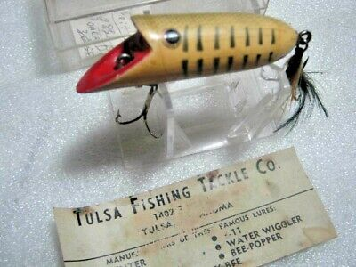 $ CDN37.64 • Buy Rare Old Vintage Tulsa Di-Dipper Bee-Popper Wood Lure Lures With Box And Insert