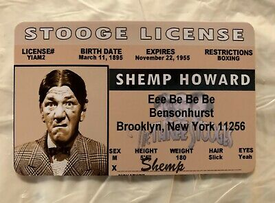 $ CDN12.55 • Buy Shemp Howard MAGNET The Three Stooges Novelty Drivers License ID Card Moe Curly