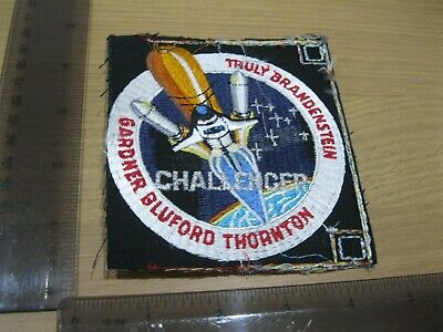 Uncut Space Shuttle Challenger Blast Patch Badge Vintage 1980s Sew Or Iron On Ct • 5.95£