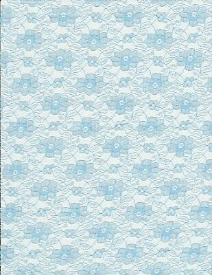 Light Blue Piece Of Lace Material New • 4£