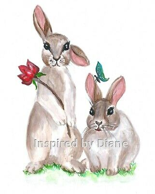 Transparent Decal / Sticker From Painted Wall, Rabbit, Bunny, Nursery Kids  D002 • 4.99£