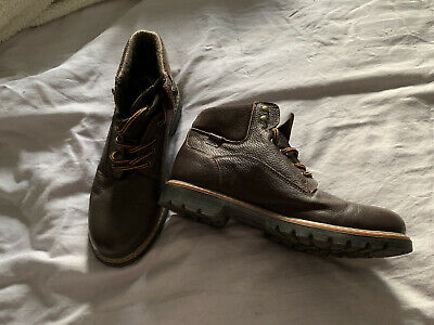 Pavers Mens Brown Leather Ankle Boots Sz 10(44) • 25£