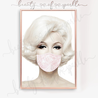 £6.99 • Buy Unique  Marilyn Monroe Face Mask Print Wall Art Picture. Free P&P.