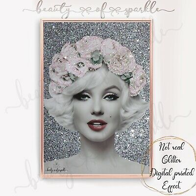 £6.99 • Buy Marilyn Monroe Style Silver Print Wall Art Picture. Free P&P..
