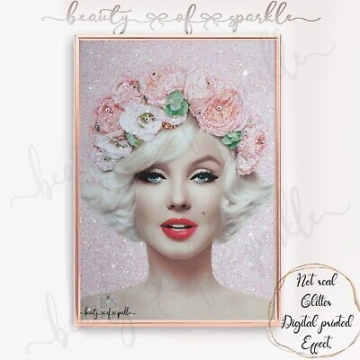 £6.99 • Buy Marilyn Monroe Style Pink Print Wall Art Picture. Free P&P..