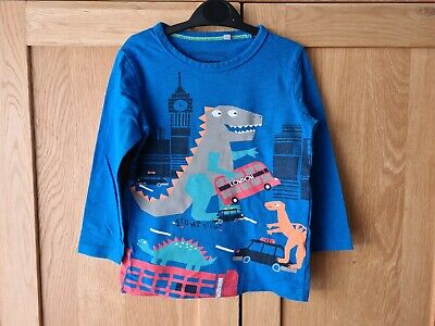 Boys Long Sleeve T Shirt / Top With  Dinosaurs From Blue Zoo. Age 3-4 Years • 4.99£