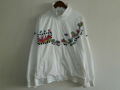 Rare Vintage Men ADIDAS Track Top Jacket White West Germany Size 44/XL • 49.99£