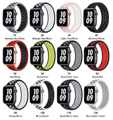 $ CDN7.04 • Buy Solo Loop Strap 44mm 40mm 38mm 42mm Silicone Band For IWatch Series 6 5 4 3 2 SE