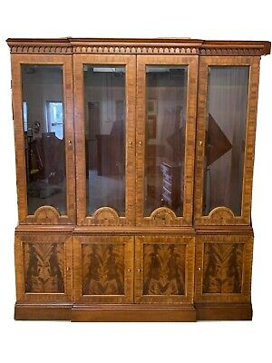 $1799 • Buy COUNCILL CRAFTSMEN Highly Inlaid Flame Mahogany Breakfront