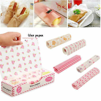 £6.85 • Buy 100 PCS Wax Paper Food Wrapping Greaseproof Cake Packaging Sandwich Picnic Tools