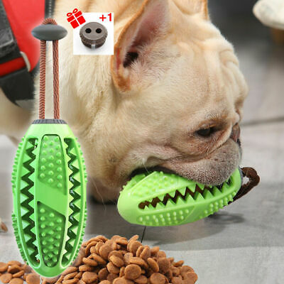 £4.09 • Buy Dog Treat Ball Interactive Toothbrush Chew Toys Cleaning Food Dispenser Feeder