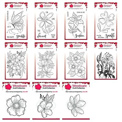 £7.50 • Buy NEW - Woodware Clear Singles Stamp - FEB 2021 - Multibuy Available - CHOOSE